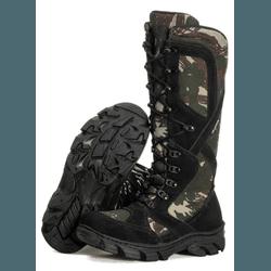 BOTA COTURNO MILITAR PARA CAÇA E PESCA PRETO - Top Franca Shoes | Calçados confortáveis em Couro