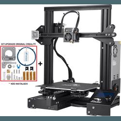 Impressora 3D Creality Ender 3 - Placa 32 Bits + Kit Upgrade Original - TOPINK3D