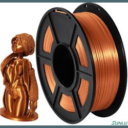 Filamento PLA+ Silk 1.75mm 1kg - Cobre - TOPINK3D
