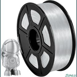 Filamento Pla+ Silk 1.75mm 1Kg - Silver - TOPINK3D