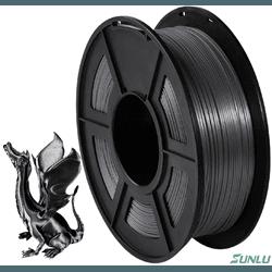 Filamento PLA+ Silk 1.75mm 1Kg - Preto - TOPINK3D