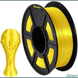Filamento PLA Silk+ 1.75mm 1kg - Amarelo - TOPINK3D