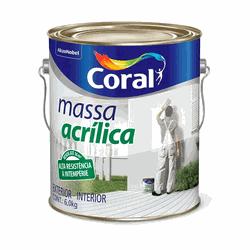 MASSA ACRILICA 6KG CORAL - TOTAL TINTAS DISTRIBUIDORA