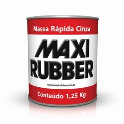MASSA RÁPIDA CINZA 1/4 MAXI RUBBER - TOTAL TINTAS DISTRIBUIDORA