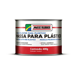 MASSA POLIÉSTER P/ PLÁSTICOS 400 GRS MAXI RUBBER - TOTAL TINTAS DISTRIBUIDORA