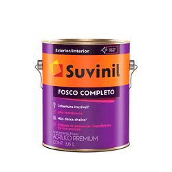 TINTA FOSCO SUVINIL FOSCO COMPLETO BRANCO 3,6L - TOTAL TINTAS DISTRIBUIDORA