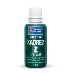CORANTE VERDE 50 ML XADREZ - TOTAL TINTAS DISTRIBUIDORA