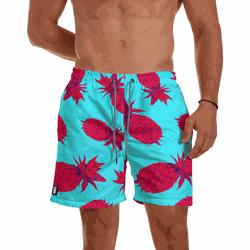 Short Praia Masculino Abacaxi Rosa Use Thuco - SH1... - Use Thuco