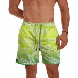 Short Praia Masculino Folhagens Brasileirinho Degr... - Use Thuco