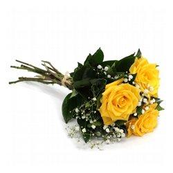 Buquê de 3 Rosas Amarelas