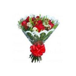 Buque Com 12 Rosas Vermelhas