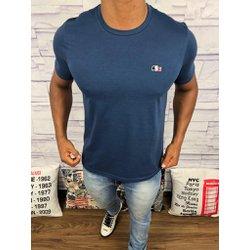 92958fa36e8 Camiseta Lacoste Lisa -Azul Marinho Claro