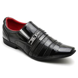 ba12b4d5ad Sapato Social Masculino Verniz Bicolor | GH CALÇADOS