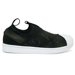 Tênis Adidas Superstar Slip-On Bordado - Preto