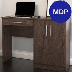 Mesa para Computador Patrimar Space com 1 Gaveta e 2 Portas Imbuia