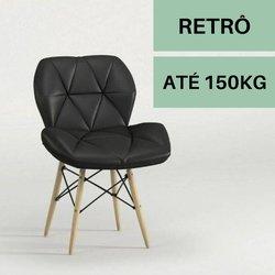 Cadeira Notável Slim Eiffel Preta