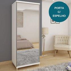 Sapateira Gelius Estilo 1 Porta Branco com Espelho