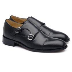 Sapato Social Double Monk Scatamacchia Preto LD06