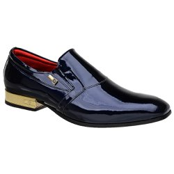 Sapato Social Jota Pe Verniz Purple Blue