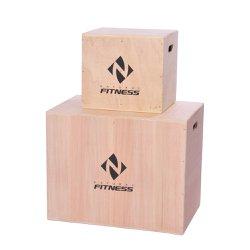 Kit 2 Caixas De Salto Plyobox Madeira Grande e Pequena