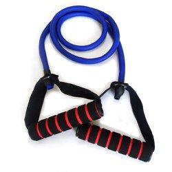 Elastico Extensor para Exercicios com Pegada - Forte Roxo