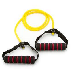 Elastico Extensor para Exercicios com Pegada - Leve Amarelo