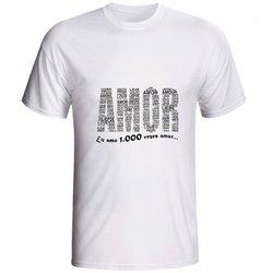 Camiseta AMOR, Eu amo 1.000 Vezes AMAR - di.66.136