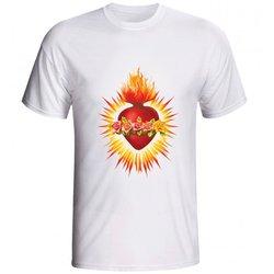 Camiseta Sagrado Coração de Maria - Coroa de Flore...