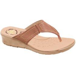 Chinelo Feminino para Pés Largos e Inchados - Bege - MA10007NPL - Pé Relax Sapatos Confortáveis