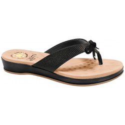 Chinelo para Esporão - Preto - MA128164P - Pé Relax Sapatos Confortáveis