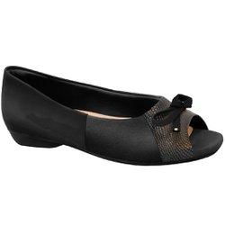 Peep Toe para Joanete - Preto - MA36030P - Pé Relax Sapatos Confortáveis