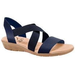 Sandália Confort Feminina - Azul Eclipse - MA10062AZ - Pé Relax Sapatos Confortáveis