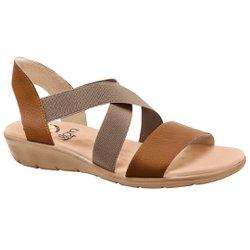 Sandália Confort Feminina - Marrom Caramelo - MA10062MR - Pé Relax Sapatos Confortáveis