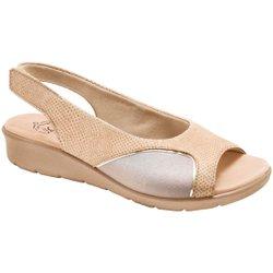 Sandália para Joanete - Croco Bege - MA10073LN - Pé Relax Sapatos Confortáveis