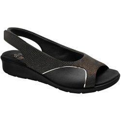 Sandália para Joanete - Preta / Sola Preta - MA10073PT - Pé Relax Sapatos Confortáveis