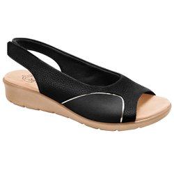Sandália para Joanete - Preta - MA10073PT - Pé Relax Sapatos Confortáveis