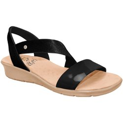 Sandália Ortopédica Feminina - Preta - MA10076PT - Pé Relax Sapatos Confortáveis