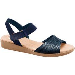 Sandália Anatômica Confort - Snake Azul - MA14018SAZ - Pé Relax Sapatos Confortáveis