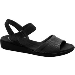 Sandália Anatômica Confort - Snake Preto - MA14018PT - Pé Relax Sapatos Confortáveis