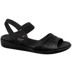 Sandália Anatômica Confort - Preta - MA14018PV - Pé Relax Sapatos Confortáveis