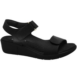 Sandália para Pés Inchados - Preta - MA585001PT - Pé Relax Sapatos Confortáveis
