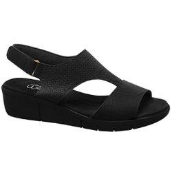 Sandália Para Senhoras - Preta - MA585002PT - Pé Relax Sapatos Confortáveis