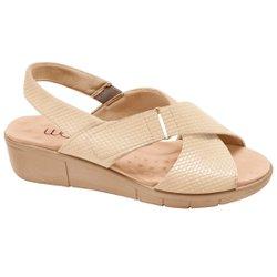 Sandália Ortopédica Feminina - Bistrô - Bege - MA585004B - Pé Relax Sapatos Confortáveis