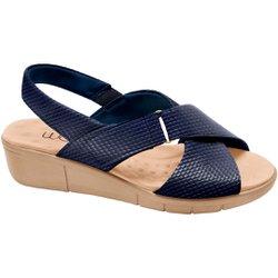 Sandália Ortopédica Feminina - Snake Azul - MA585004SAZ - Pé Relax Sapatos Confortáveis