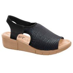 Sandália Proteção Dos Pés - Preta Sola Bege - MA585011PB - Pé Relax Sapatos Confortáveis
