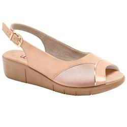 Sandália Feminina Para Joanete - Verniz Bege - MA585013VBG - Pé Relax Sapatos Confortáveis