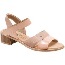 Sandália Salto Baixo - Pele - MA818008PL - Pé Relax Sapatos Confortáveis