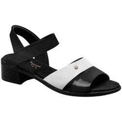 Sandália Salto Baixo - Preto - MA818008PT - Pé Relax Sapatos Confortáveis