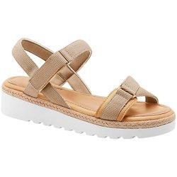Papete Feminina - Bege - MA831005BG - Pé Relax Sapatos Confortáveis