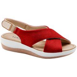 Sandália Ortopédica - Vermelha - MA832002VM - Pé Relax Sapatos Confortáveis